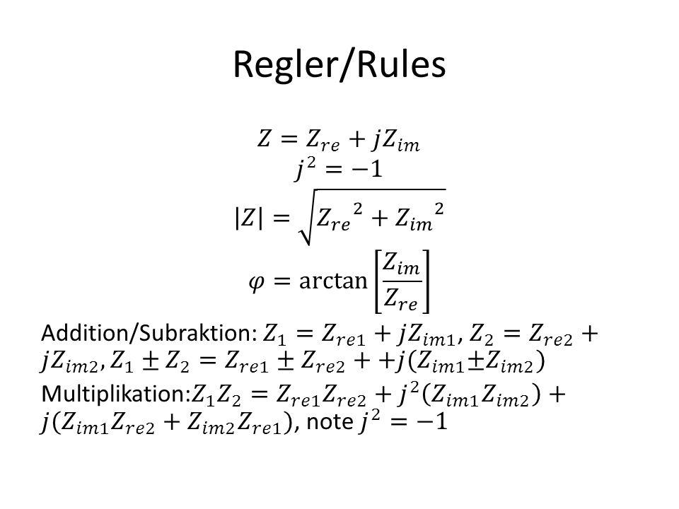 Regler/Rules