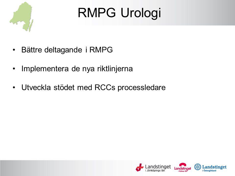 RMPG Onkologi Viktigt att fortsatt process med ordnat införande av cancerläkemedel fortsätter IT-stödets utveckling såväl regionalt som mot Skandionkliniken Viktigt att regionen är delaktig i arbetet med kliniska prövningar