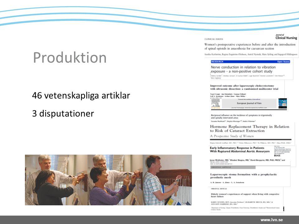 www.lvn.se Produktion 46 vetenskapliga artiklar 3 disputationer