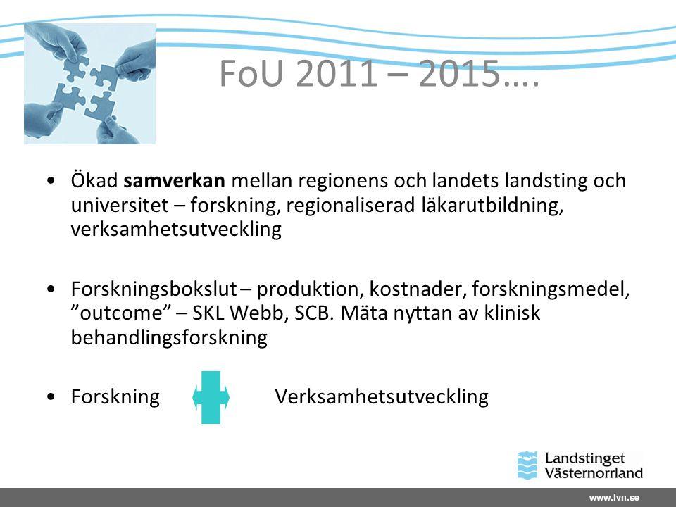 www.lvn.se Uppföljning av forskning i LVN 2010