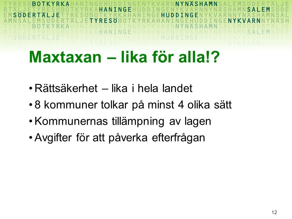 12 Maxtaxan – lika för alla!.