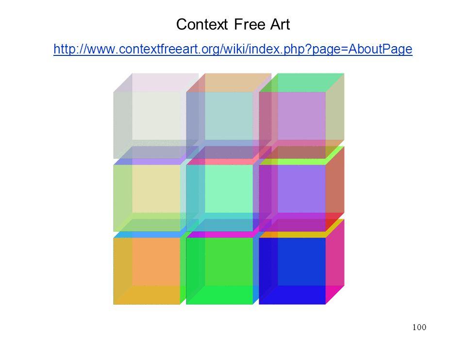 100 Context Free Art http://www.contextfreeart.org/wiki/index.php?page=AboutPage http://www.contextfreeart.org/wiki/index.php?page=AboutPage