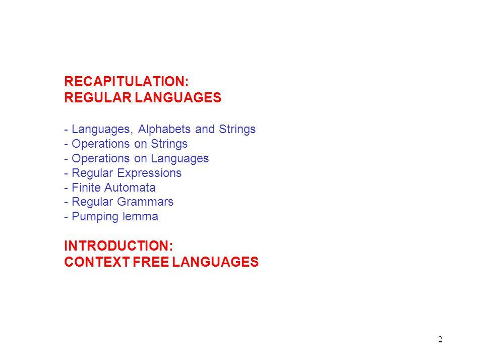 43 A context-free grammar Another derivation