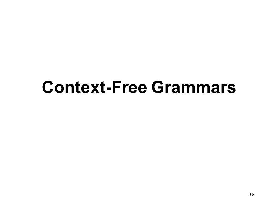 38 Context-Free Grammars