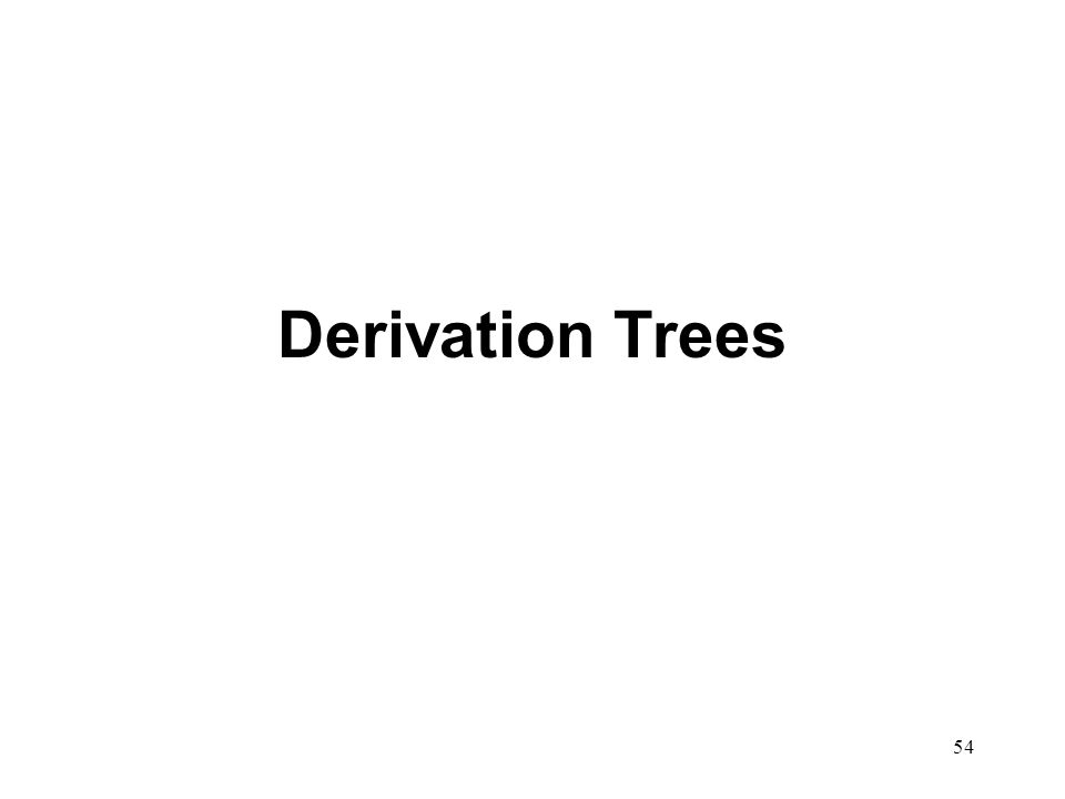 54 Derivation Trees