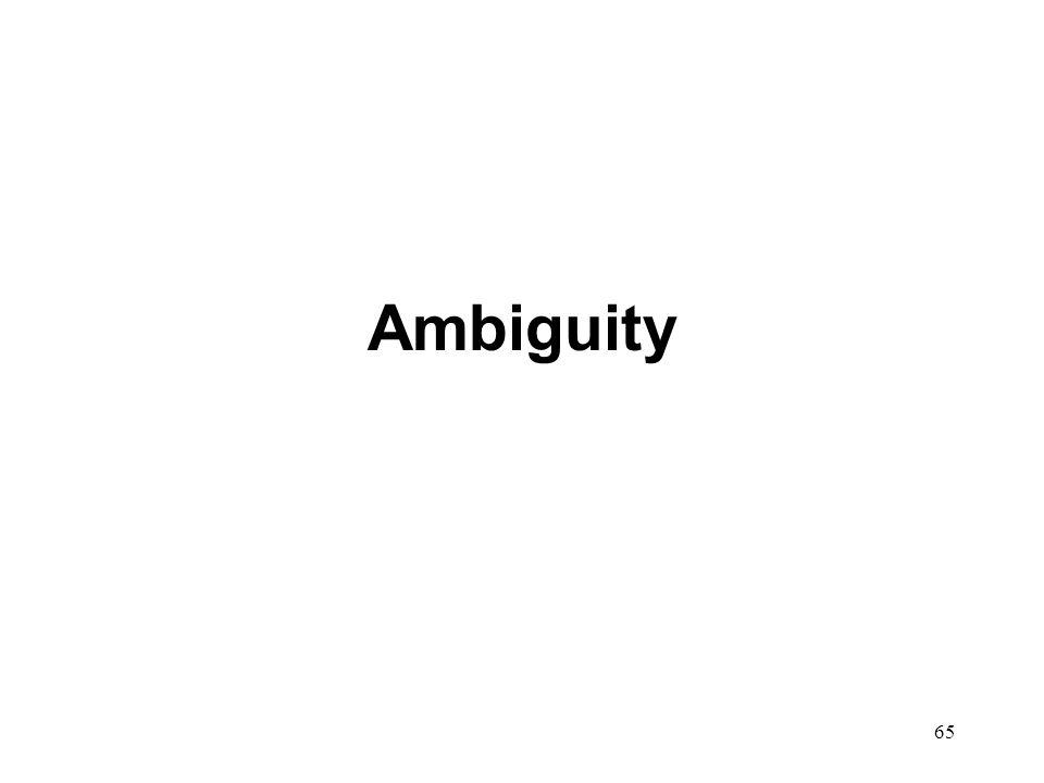 65 Ambiguity