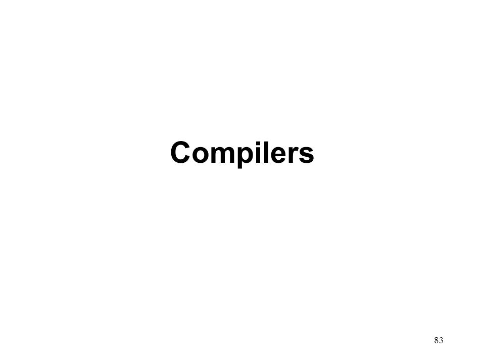 83 Compilers