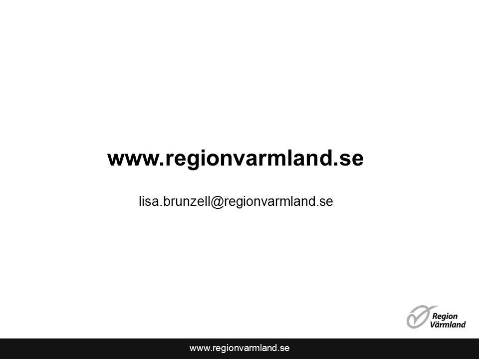 www.regionvarmland.se lisa.brunzell@regionvarmland.se