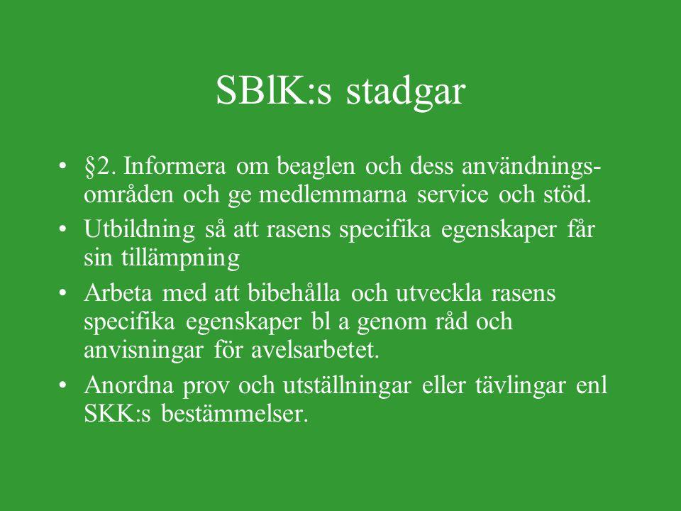 SBlK:s stadgar, forts.