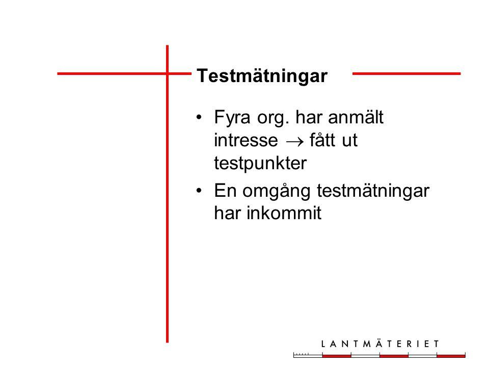 Testmätningar Fyra org.