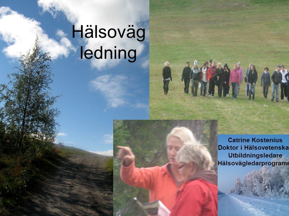 Hälso väg ledare Hälsoväg ledning Catrine Kostenius Doktor i Hälsovetenskap Utbildningsledare Hälsovägledarprogrammet