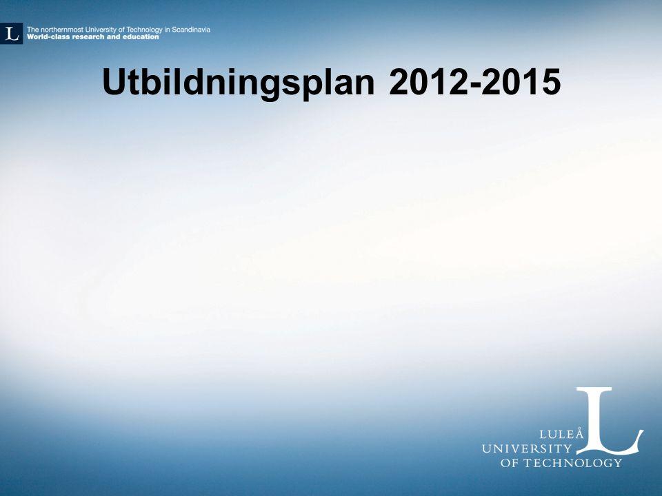 Utbildningsplan 2012-2015