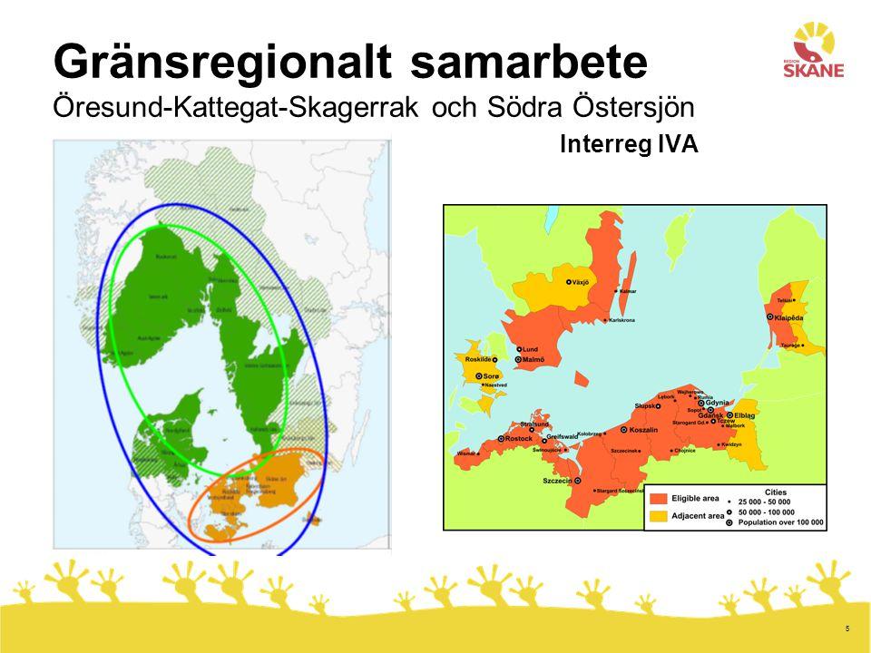 6 Transnationellt samarbete Interreg IVB Nordsjöregionen Östersjöregionen