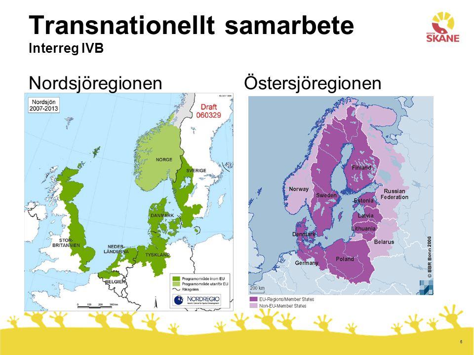7 Interregionalt samarbete Interreg IVC