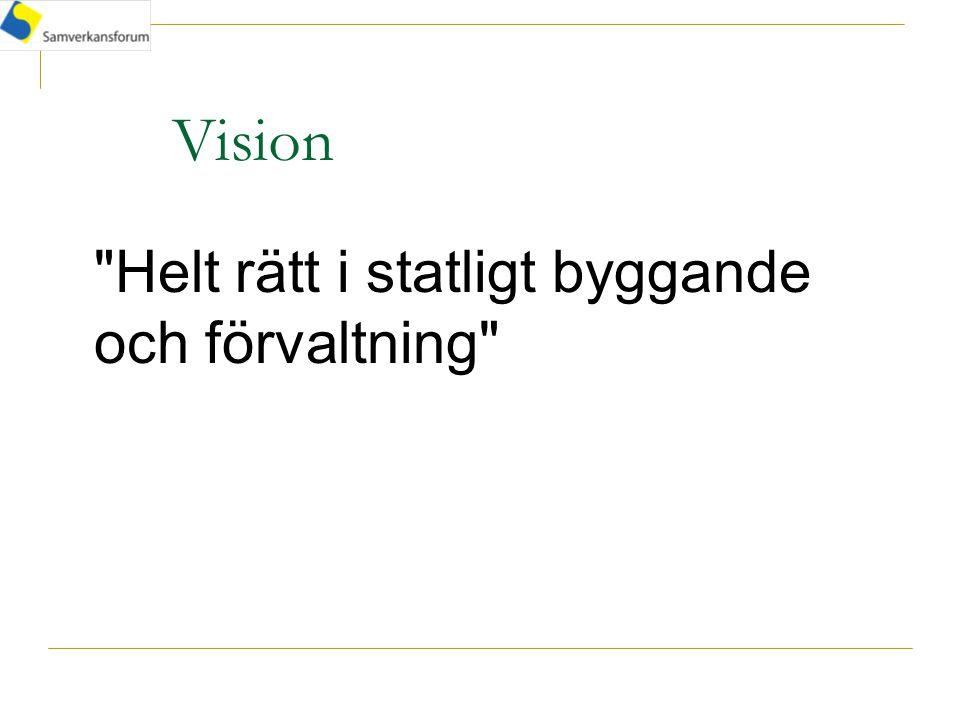 Vision Helt rätt i statligt byggande och förvaltning