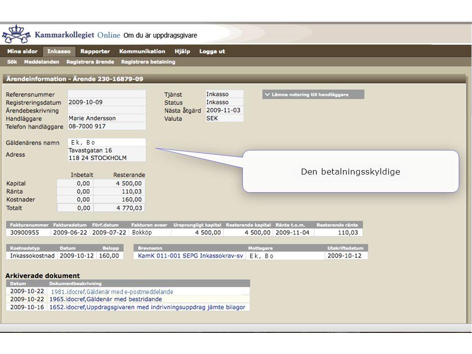 Ek, Bo Bokköp Ek, Bo 1981.idocref,Gäldenär med e-postmeddelande Den betalningsskyldige