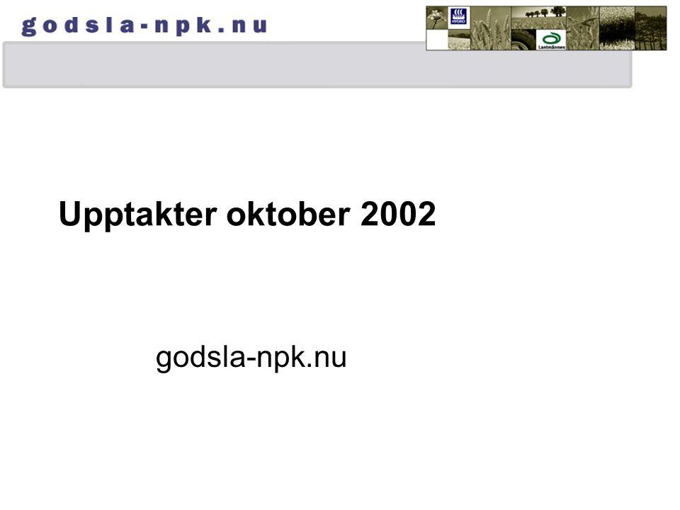 Upptakter oktober 2002 godsla-npk.nu