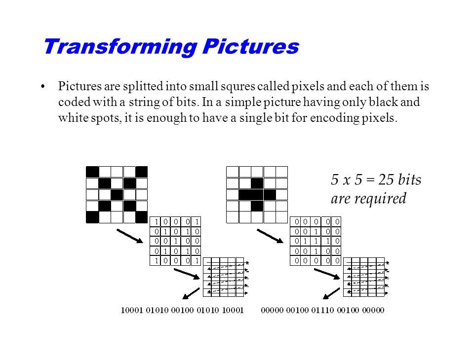 Vanliga filformat för stillbilder: ○BMP = Bitmapp.