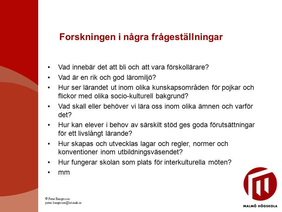 Idrott i lärande och samhälle Ingegerd Ericsson (LFH) Jan-Eric Ekberg (LFH) Peter Persson (LFH) Skolutveckling och ledarskap Lisbeth Amhag 50% (SOL) IT Marita Bruzell 10% (SOL) Margareth Drakenberg 33% (SOL) Anna Henningsson-Yousif 70% (SOL) Marie Leijon (SOL) Börje Lindblom 20% (SOL) Frank Lundberg 10% (SOL) Sten-Sture Olofsson 10% (SOL) Bim Riddersporre 5% (SOL) Elisabeth Söderquist (SOL) Haukur Viggosson 80% (SOL) Samhällshelhet, Malmö, urbana livsvillkor, skola och samhällsliv, social ekonomi, vetenskapsteori och forskningsmetodologi, samt kultur Mikael Stigendal (SOL)  Peter Bengtsson peter.bengtsson@lut.mah.se