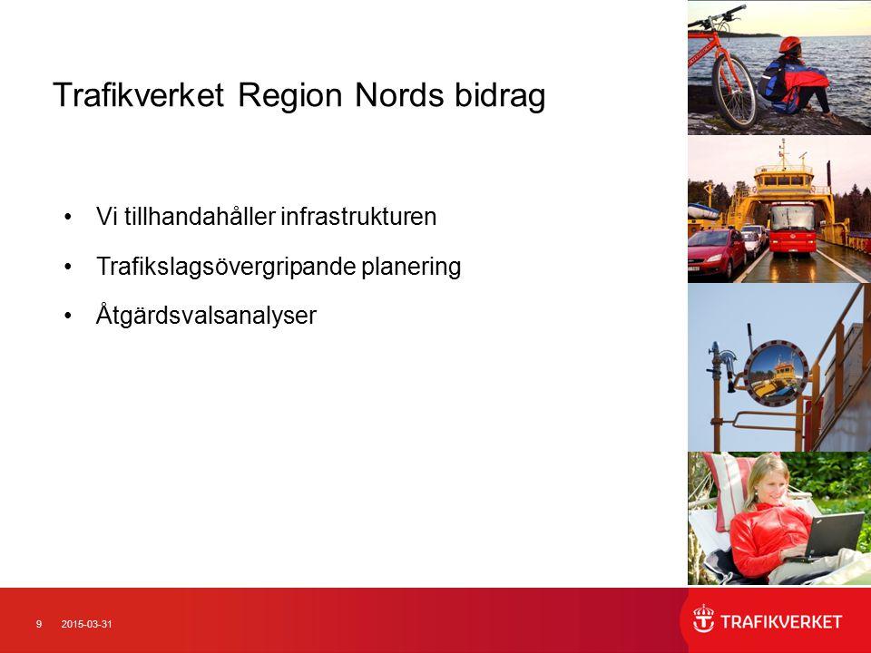 102015-03-31 En utmaning Nya roller för alla parter Samarbete mellan myndigheter, verkställande organ och trafikoperatörer Träna tillsammans