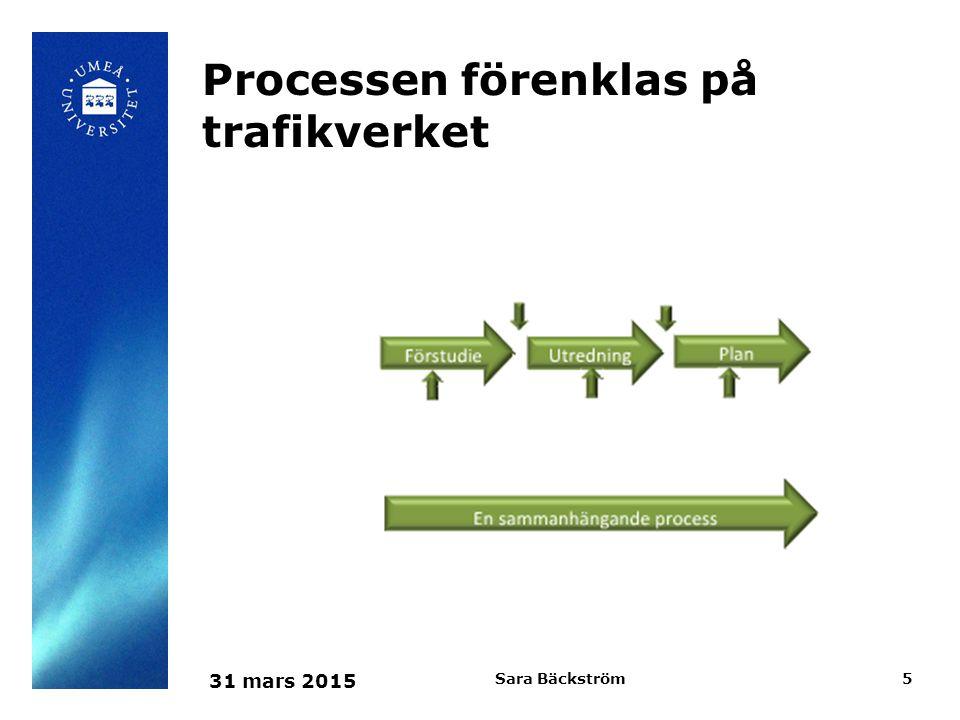 31 mars 2015 Sara Bäckström6 Generalentreprenad
