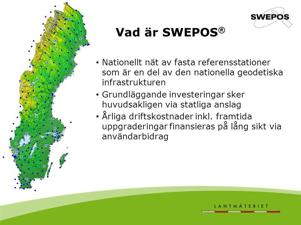 Första generationens SWEPOS nätverk Första generationens SWEPOS nätverks bestod av 21 stationer, etablerade i början -mitten av 1990 - talet De 21 fundamental stationerna är byggda på berg och har redundant utrustning för GNSS – mätning, datakommunikation, ström mm.