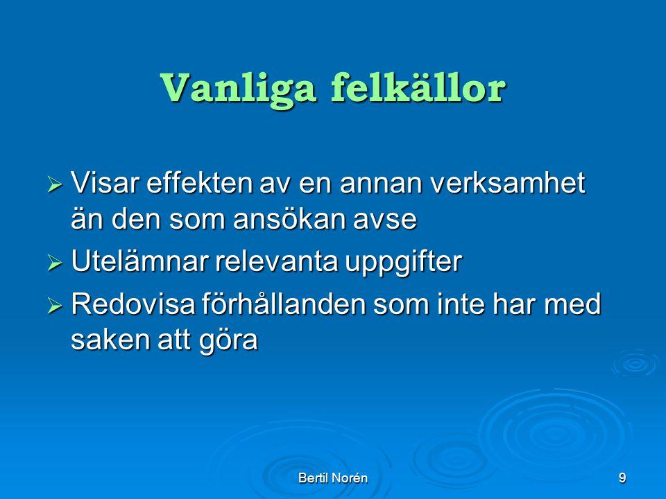 Bertil Norén10 Vanliga felkällor forts.