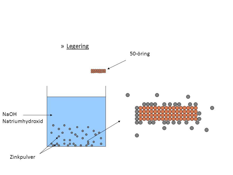 » Legering 50-öring NaOH Natriumhydroxid Zinkpulver