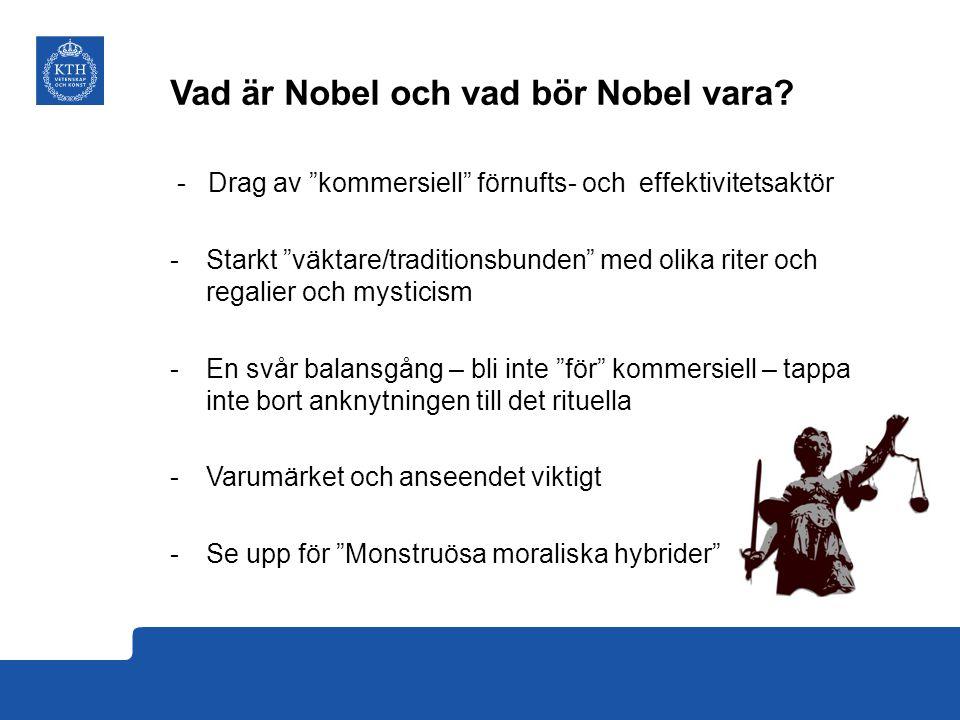 Vad är Nobel och vad bör Nobel vara.