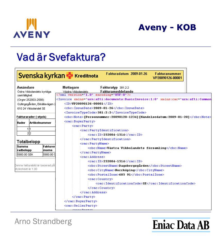 Aveny - KOB Arno Strandberg Vad är Svefaktura?