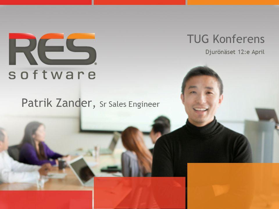 TUG Konferens Djurönäset 12:e April Patrik Zander, Sr Sales Engineer
