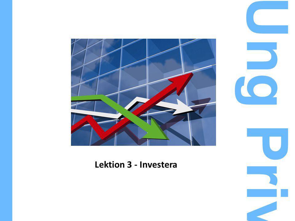 Lektion 3 - Investera Ung Privatekonomi