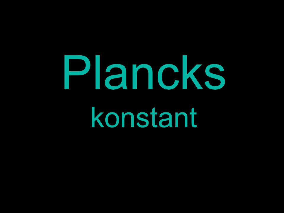 Plancks konstant