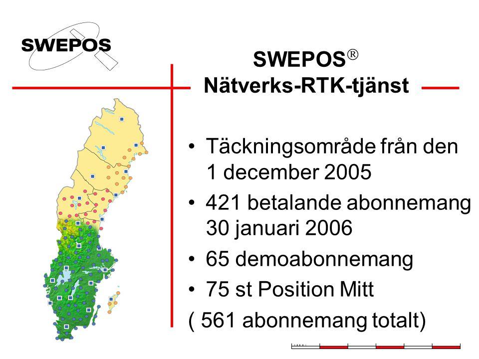 SWEPOS driftledningscentral i Gävle Position Skräddarsydda RTK data Referens- stations- data Hur fungerar SWEPOS Nätverks-RTK-tjänst.