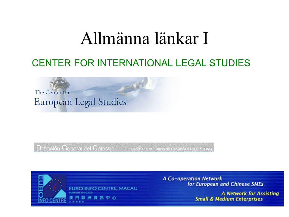 Allmänna länkar II The CENTRAL Transnational Law Database
