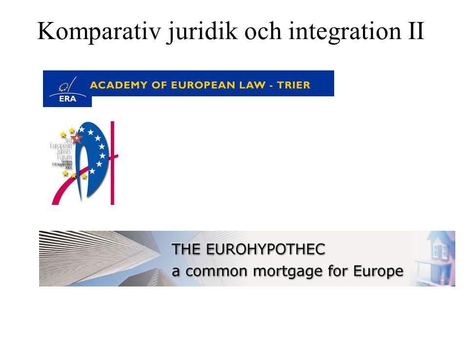 Komparativ juridik och integration II