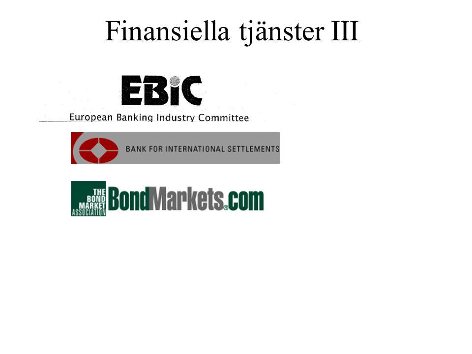 Finansiella tjänster III