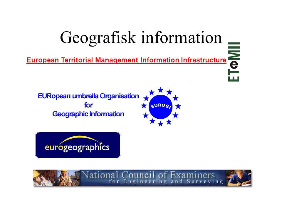 Geografisk information European Territorial Management Information Infrastructure