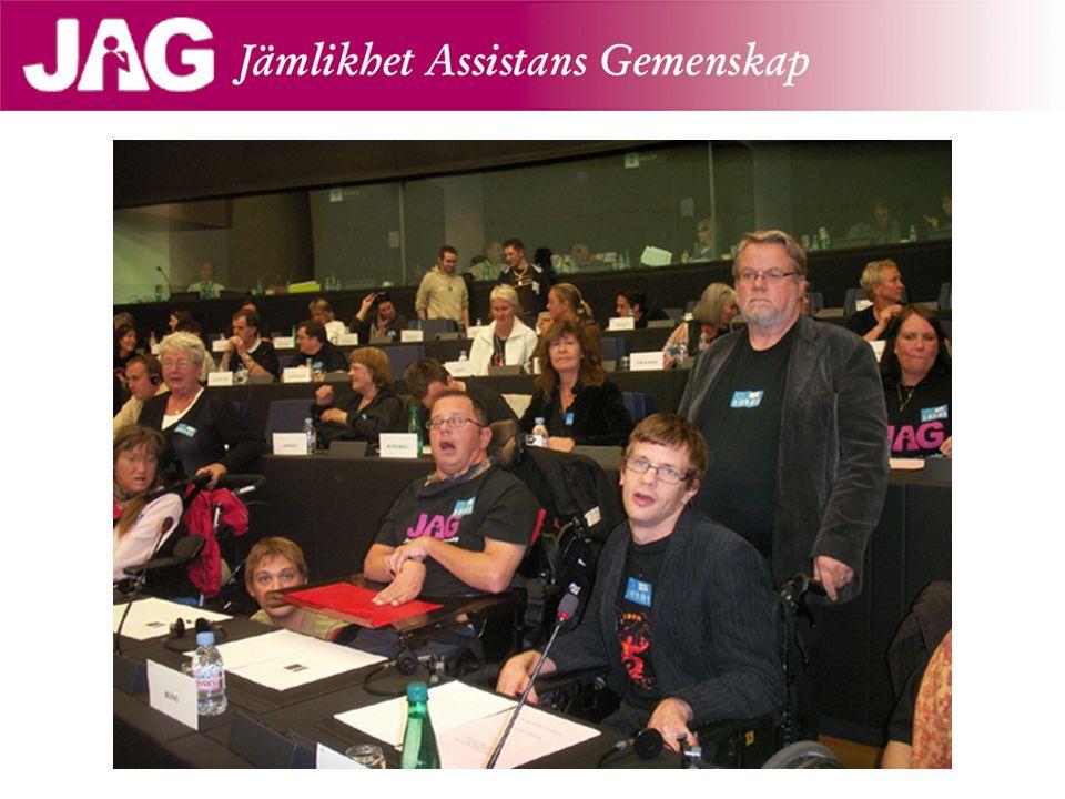 Bente Skansgård fick sista ordet, citerade Adolf Ratzka: en institution är när man inte vet vilken assistent som kommer och när