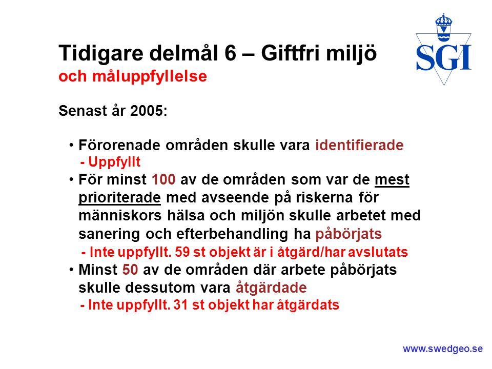 www.swedgeo.se F d Gnosjö Eloxering - Bidragsprojekt ett exempel där Länsstyrelsen gjorde nästan som kvalitetsmanualen säger Kvalitetsmanual