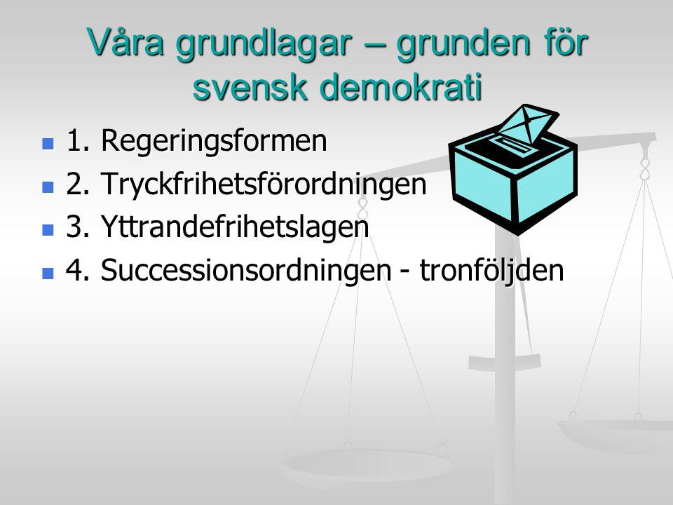 Regeringsformen Den viktigaste grundlagen.Den viktigaste grundlagen.