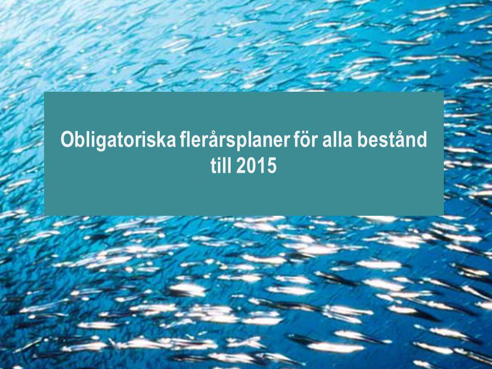 Obligatoriska flerårsplaner för alla bestånd till 2015