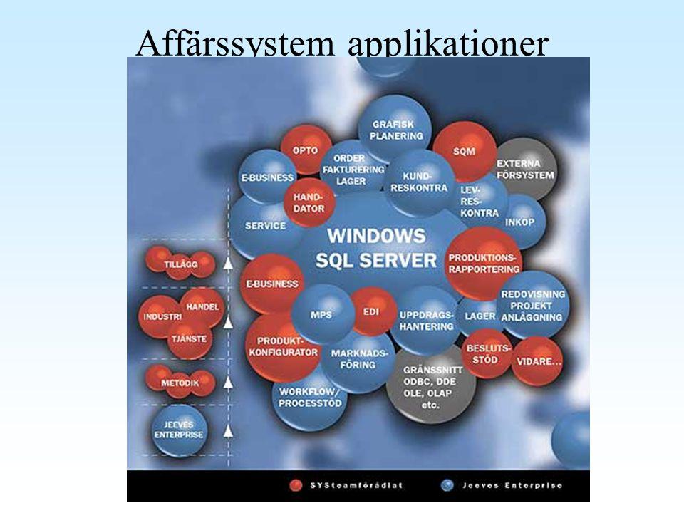Affärssystem applikationer