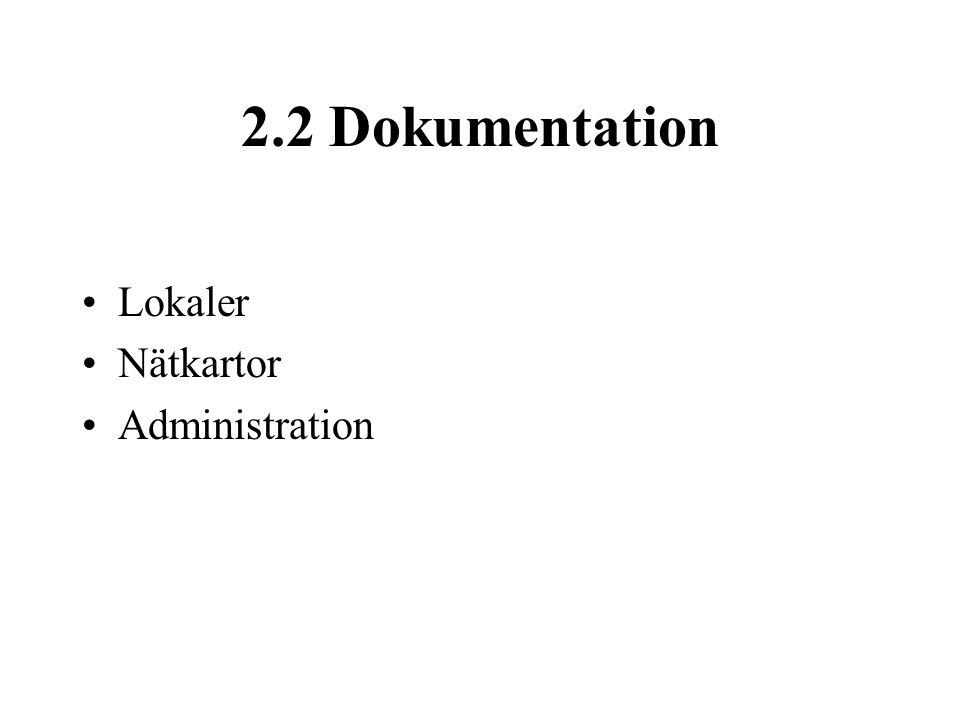 2.2 Dokumentation Lokaler Nätkartor Administration