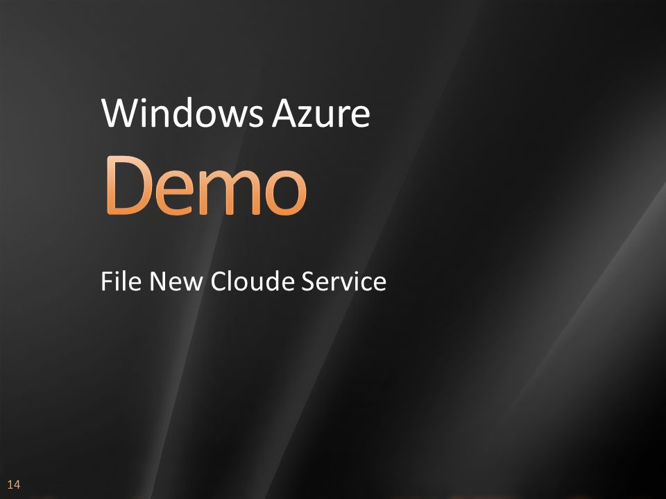 14 Windows Azure File New Cloude Service