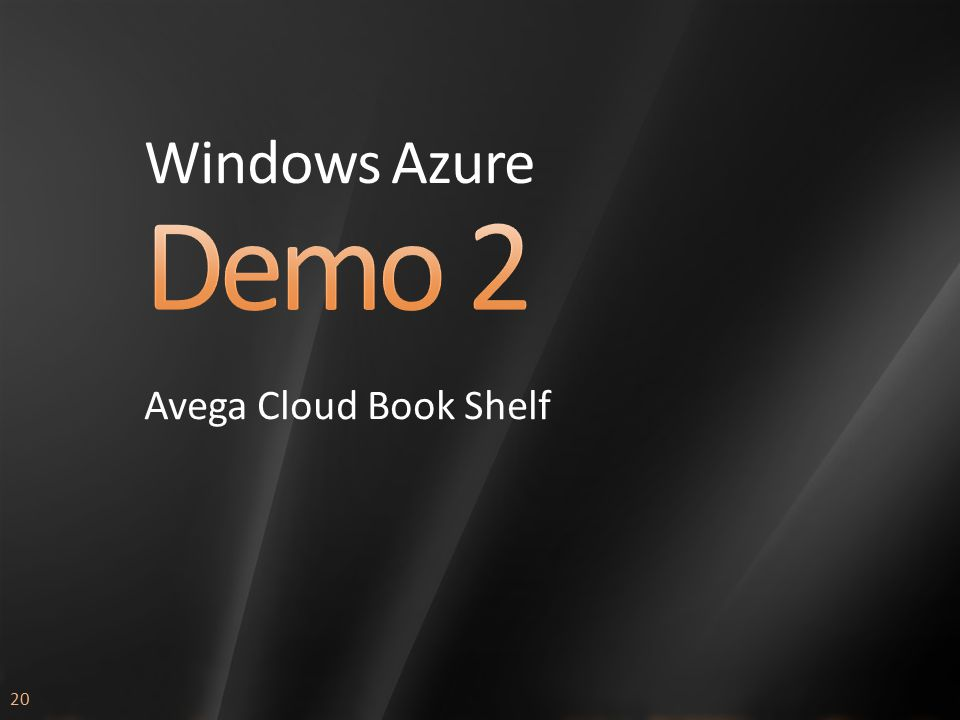 20 Windows Azure Avega Cloud Book Shelf