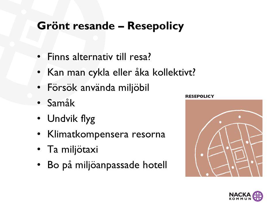 Grönt resande – Resepolicy Finns alternativ till resa.
