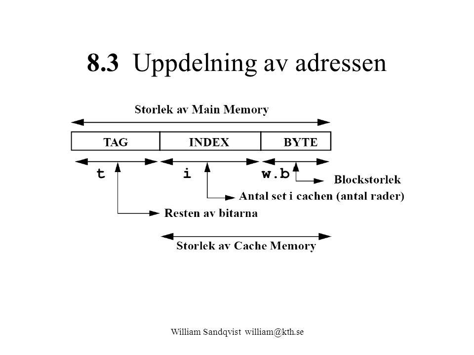 William Sandqvist william@kth.se 8.3 Uppdelning av adressen tiw.b
