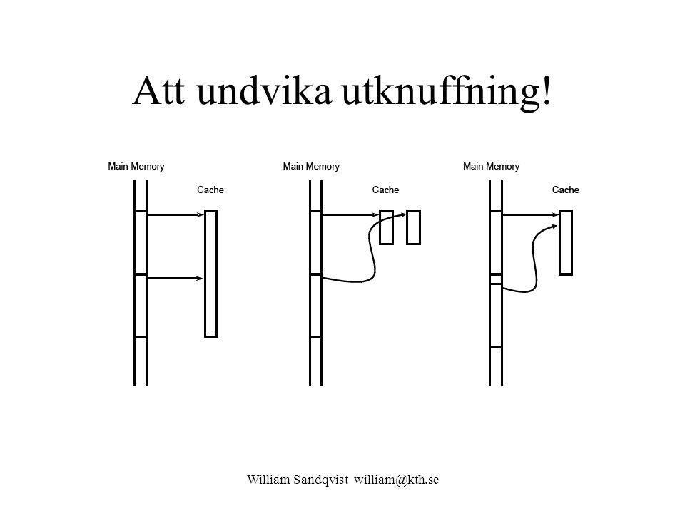 William Sandqvist william@kth.se Att undvika utknuffning!