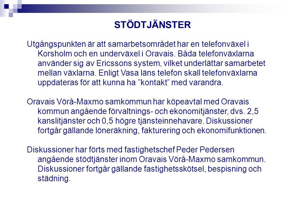 Utgångspunkten är att samarbetsområdet har en telefonväxel i Korsholm och en underväxel i Oravais.